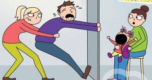 10 vicces rajz, a kezdő szülők mindennapjairól