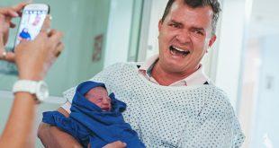 Csoda képekben- amit az apák szülés alatt átélnek!