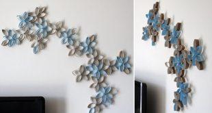 Fali dekorációk papírtörlő gurigából! Le fog esni az állad! DIY